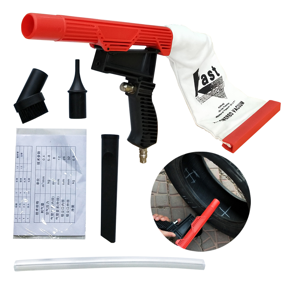 Multifunctional Pneumatic Spray Vacuum Gun Suction Device Cleaning Device Vacuuming Air Powered Fixing Car Tire Tool