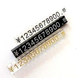 Большой комбинированный ценник доллар евро, оснастка цифра кубики палка одежда для телефона ноутбука ювелирные изделия Витрина Счетчик це...