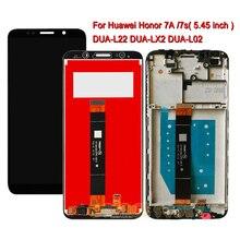 Schermo LCD Per Huawei Honor 7A DUA L22 L02 L22 LX2 Display Honor 7s 5.45 pollici Display LCD con Touch assemblea di schermo Con Cornice