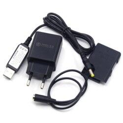 Banco de potência MH-24 cabo usb + carregador EP-5A EN-EL14 bateria manequim para nikon p7800 d5500 d3300 d3400 d5100 d3200 d3100 câmera