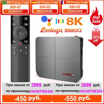 2020 AX95 DB TV pudełko wsparcie Dolby Android 9 0 Amlogic S905X3 MV BD ISO podwójny Wifi 4K Google Player Youtube inteligentny zestaw pudełkek pod telewizor tanie i dobre opinie VONTAR 100 M CN (pochodzenie) Amlogic S905X3-B Quad Core ARM Cortex A55 32 GB eMMC 64 GB eMMC 128 GB eMMC Brak 4G DDR3 0 42KG