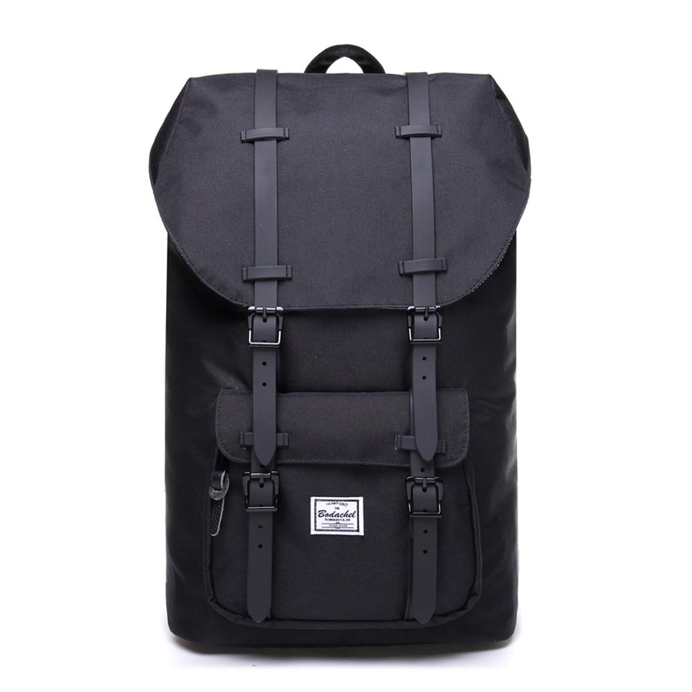 Bodachel Fashion Backpack For Men And Women 15.6'' Laptop Backpack Big Male Water-resistant Durable Travel Back Pack Designer