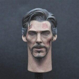Image 1 - רק צעצוע 1/6 רופא סטראנג ראש לפסל קרוב עיני גרסה עבור 12 אינץ פעולה איור DIY