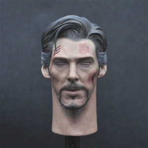 Image 1 - JUST A TOY 1/6 Doctor Strang Head Sculpt Close Eyes Version for 12inch Action Figure DIY