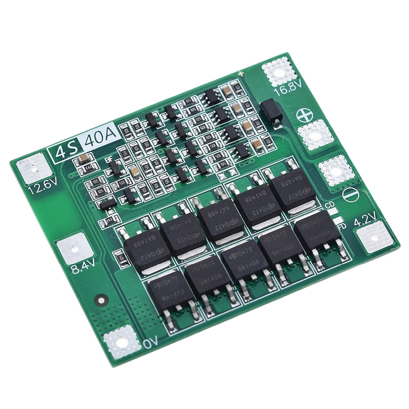 Hot 3C-4S 40A Li-Ion Lithium Battery 18650 Charger Pcb Bms Protection Board For Drill Motor 14.8V 16.8V Lipo Cell Module