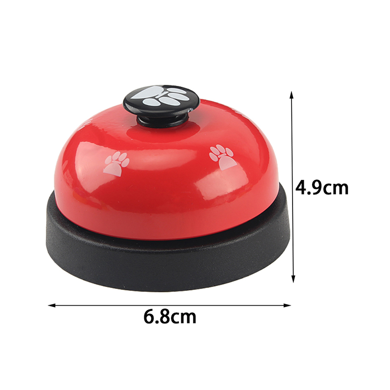 1pc Dog Training Bell Paw Print Pet Dinner Bell Dog Training Clicker Puppy Cat Dinning Call Ring Pet Training Playing Toys-1