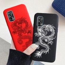 For OPPO Realme 7 Pro Case Dragon Soft Silicon Case for Realme X7 7i 7 6 Pro XT C17 C11