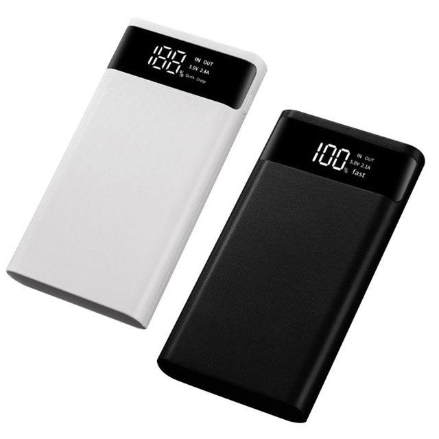 Dual USB QC3.0 6x18650 Batteries 5V 9V 12V DIY Power Bank Box Holder Case Quick Charger