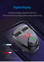 fm tf Car Charger with FM Transmitter Bluetooth Receiver Audio MP3 Player TF Card  Car Kit Dual USB Car Phone Fast Charger (4)