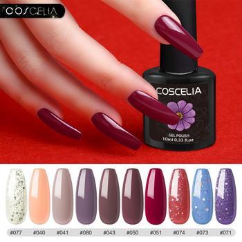 COSCELIA 6/8/10PC Nail Gel Polish Set Color Gel UV Vernish Semi Permanent Top Coat 10ml Soak Off Varnish Nail Art Manicure Set 1