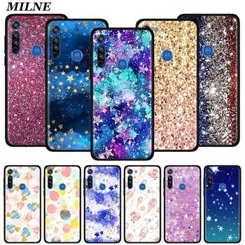 Case Coque For Motorola G8 Play G Stylus G Power G8 Power Lite One Hyper E6s Edge Plus One Fusion+ Cover Glitter Watercolor Gold for motorola one fusion plus case shockproof armor rubber hard pc case for moto one fusion plus cover for moto one fusion plus