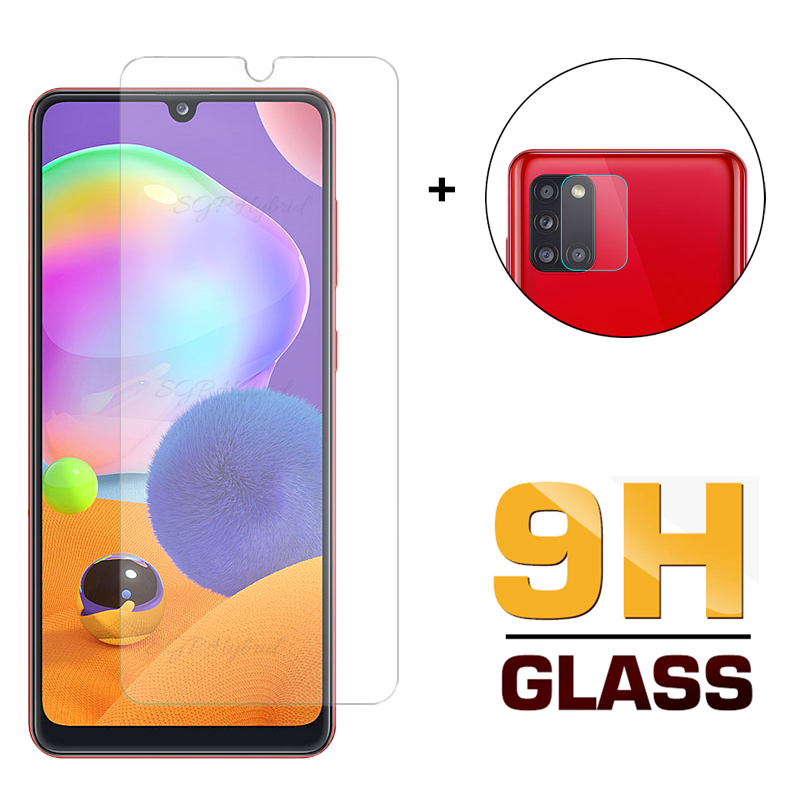 2in1 Camera Lens Glass For Samsung A31 A 31 Screen Protector Tempered Glass For Samsung Galaxy A31 A 31 6.4