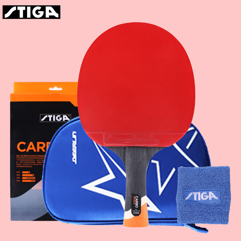 STIGA 6 Star Table Tennis Racket Pro Pingpong Paddle With Case 170g Advanced Speed Control  Spin Indoor Or Outdoor Play