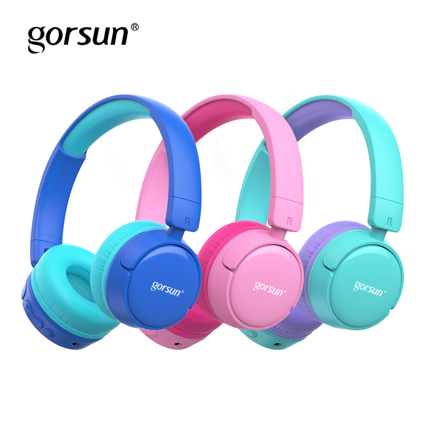 gorsun Wireless Kids Headphones with 85dB Volume Regulator Foldable Bluetooth Stereo Over-Ear Kids headsets for boys and girls
