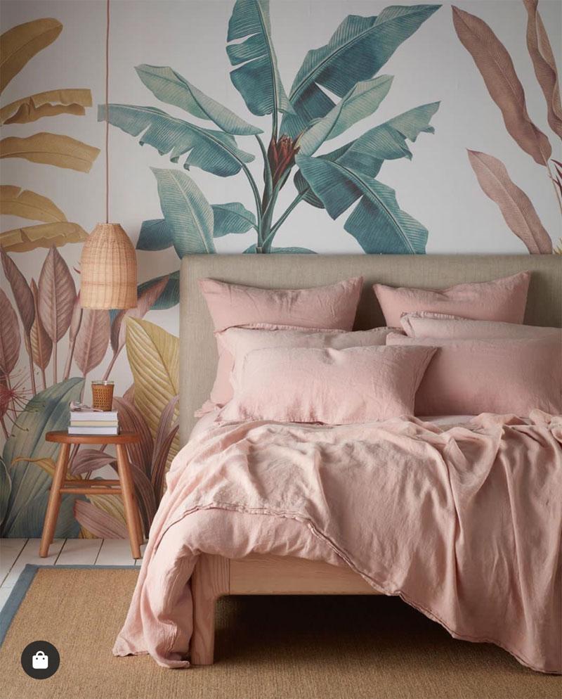 Bacaz Custom Banana Leaf Wallpaper Canvas Print Tropical Rain Forest Plant Background Mural Home Decor 3d Photo wall paper 4