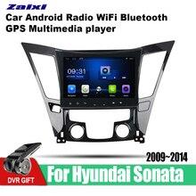 ZaiXi 9 Inch 2Din Android Car Radio Wifi Autoradio HD Bluetooth Tochscreen GPS Multimedia Player For Hyundai Sonata 2009-2014
