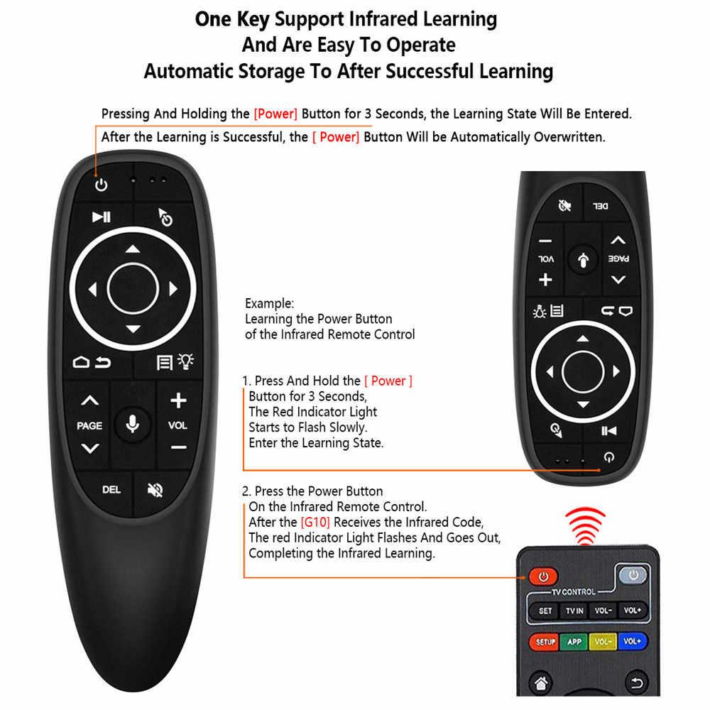 Kebidu USB Receiver 2.4G G10S Udara Mouse Kontrol Suara untuk Gyro Sensing untuk Android TV Box G10 Mini Nirkabel smart Remote Control