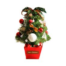 2019 New Year Christmas Tree Decorations 45CM Little Desktop Mini Xmas Artificial-Tree Ornaments