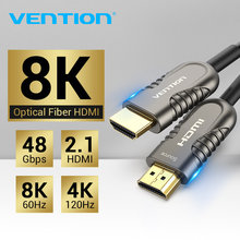 Vention 8K HDMI 2.1 Cable 120Hz 48Gbps Fiber Optic HDMI Cable Ultra High Speed HDR eARC for HD TV Box Projector PS4 Cable HDMI(China)