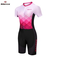 Triathlon Cycling Clothing Short Sleeve cycling Jersey Set Jumpsuit Running Swimming Bike Outfit Clothes for Woman Cyclist