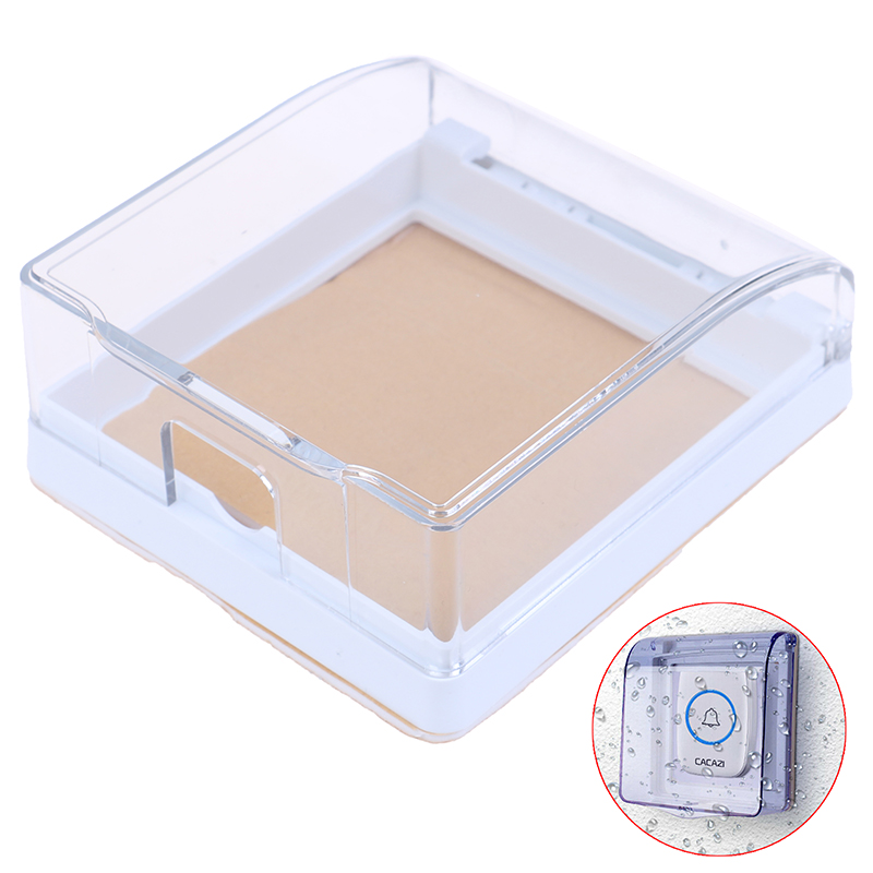 Plastic Wall Switch Waterproof Cover Box Wall Light Panel Socket Doorbell Flip Cap Cover Clear Bathroom Kitchen  High Qulaity