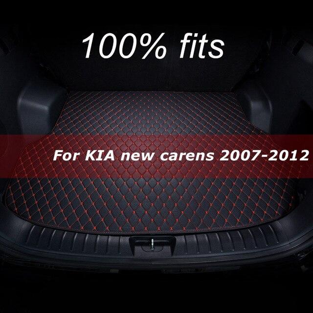 רכב מחצלת תא מטען KIA החדש carens חמישה מושב 2007 008 2009 2010 2011 2012 מטענים ריפוד שטיח אביזרי פנים כיסוי