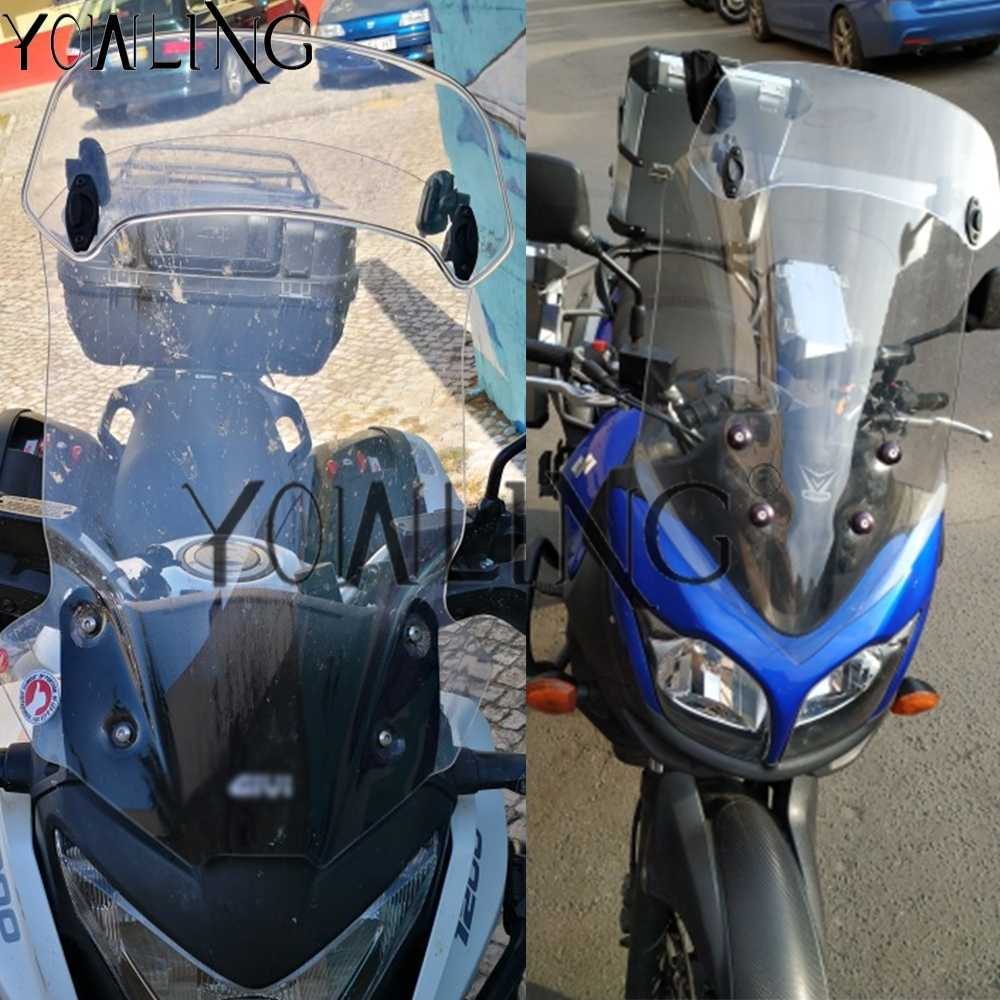 Color : Type A Big Clear Deflector Motocicleta Transparente resucitado Viento Ajustable Pantalla Parabrisas Spoiler for BMW F800 R 1200 GS Kawasaki Yamaha Parabrisas