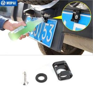Image 2 - MOPAI License Plate for Jeep Wrangler JK 2007 Up Car Rear License Plate Mounted Part Screws Bottle Opener Decoration Car Styling
