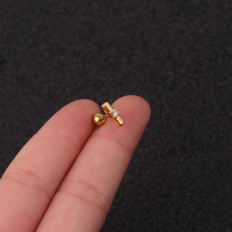 Feelgood アメージング 16 グラムステンレス鋼と Cz 耳軟骨ピアスらせん珠イヤリングルーク巻き貝ローブスクリューバックスタッド