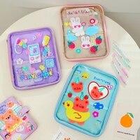Borsa per Tablet PC trasparente Jelly Bear Ipad per 10.2 10.5 11 pollici borsa per matita impermeabile in PVC custodia per cosmetici custodia