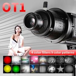 OT1 Bowens Mount Focalize Conische Snoots Foto Optische Condensor Art Speciale Effecten Vormige Beam Light Cilinder W/Lens Kleur gel