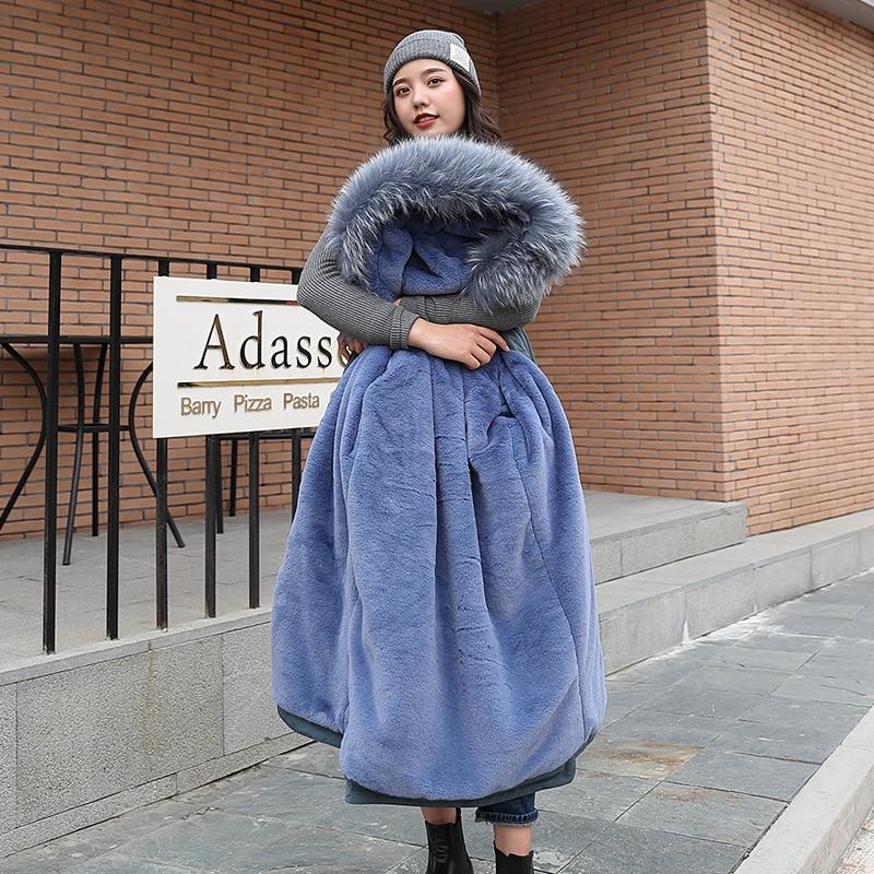2019 Women Winter Jacket Hooded Warm Coat Plus Size Cotton Padded Jacket Female Long Parka Womens Wadded Jaqueta Feminina
