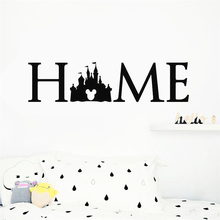 Disney Princess Castle Logo Wall Decal Quotes Mickey Mouse Sticker Kids Room bedroom accessories Art Decor Home