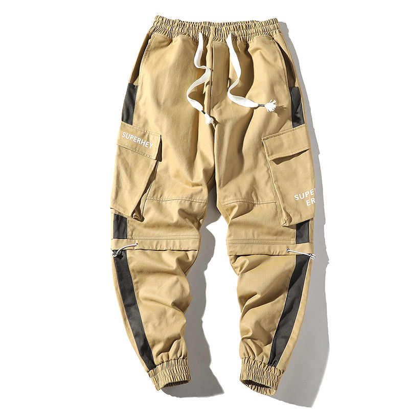 Man Pants Streetwear New Arrivals Lattice Joggers Hip Hop Trousers Men High Fashion casual High quality Cargo Pants Men 4XL