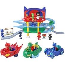 Пижамы в масках Juguete PJ Маски герои маленькие дети кошка сова ПВХ фигурка детей мальчики девочки парковка набор игрушки для детей S01