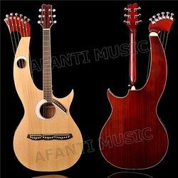Spruce top / Sapele Back & Sides / Rosewood Fingerboard & Nut Afanti Harp guitar (AHP-1002S)