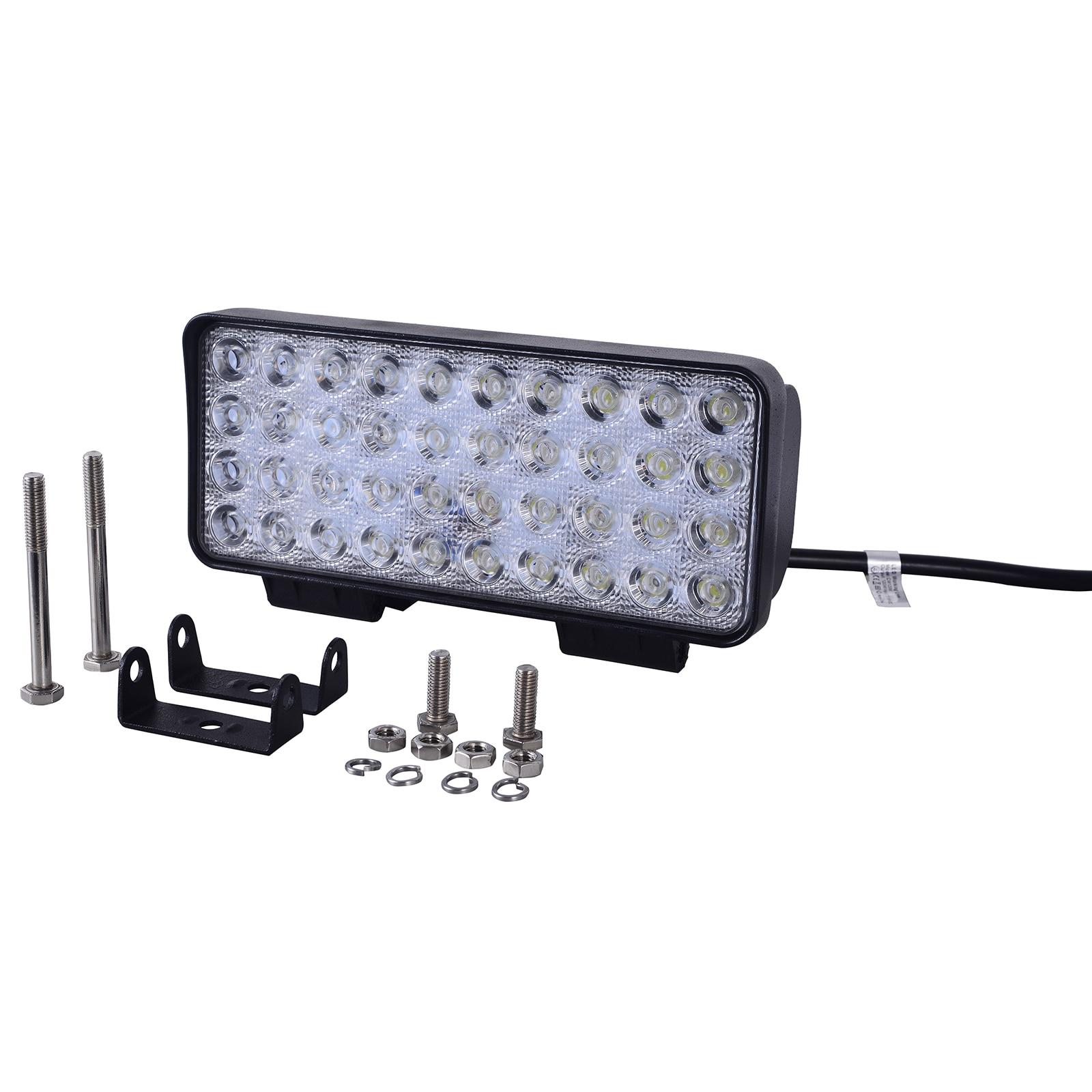 120W 8000K Rectangular coche luz del día Led de trabajo luz diurna Led luz antiniebla para Jeeps camiones ATVs SUV barcos