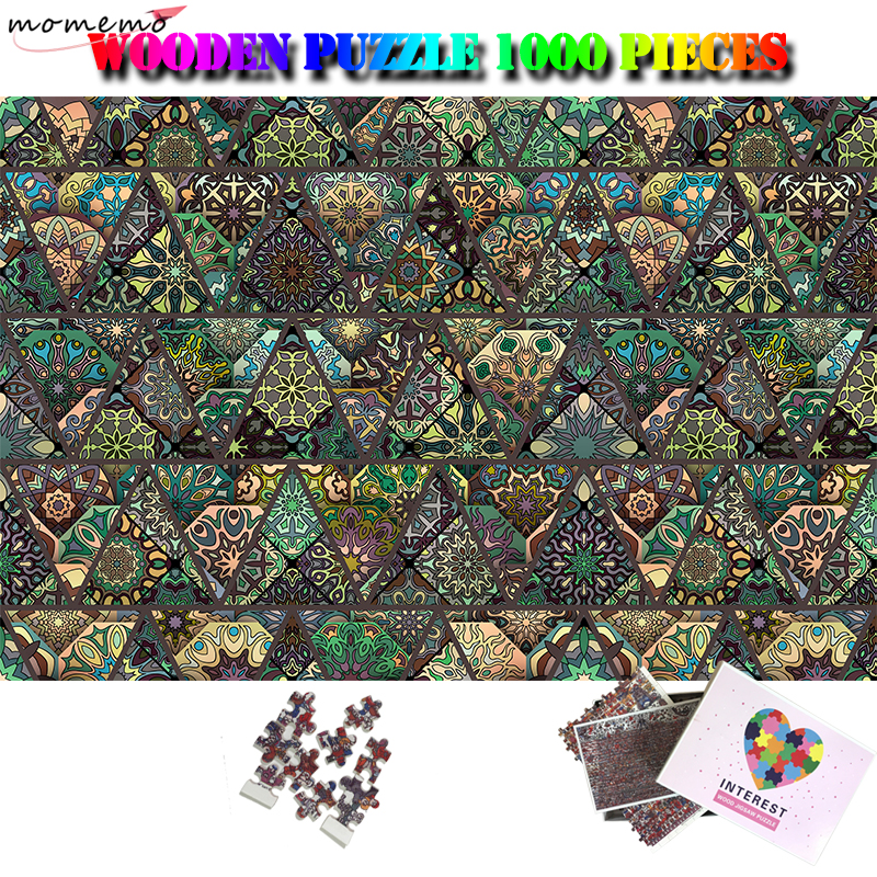 MOMEMO Jigsaw Puzzle for Adults Decorative Pattern Wooden 1000 Pieces Puzzles Color Art Puzzle Games Interesting Kids Puzzle Toy