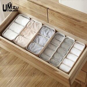 Носки, нижнее белье, трусики, ящики для хранения, разделитель ящика, пластик, отдельный органайзер, шкаф, стол, ванная комната, домашняя орган...