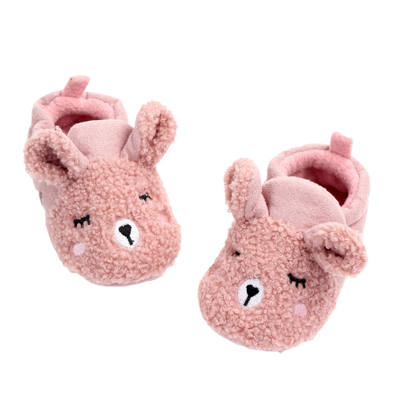 Winter Cute Sheep Baby Shoes First Walker Fleece Warm Cotton Shoes Soft Sole Infant Toddler Baby Floor Socks 0-12M