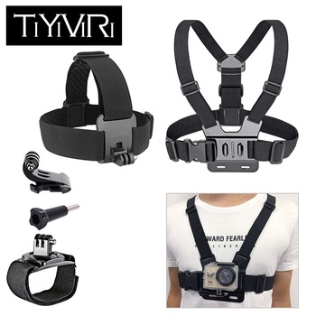 For Gopro Accessories set Chest Strap mount Head strap Band for go pro hero 6 5 4 3 sjcam sj4000 xiaomi yi 4K Action Camera - discount item  34% OFF Camera & Photo