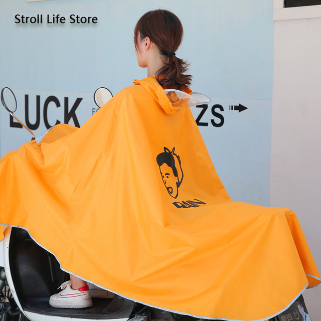 Electric Motorcycle Cute Yellow Rain Coat Women Girls Cartoon Long Raincoat Riding Bicycle Poncho Rain Jacket Cover Impermeable 1