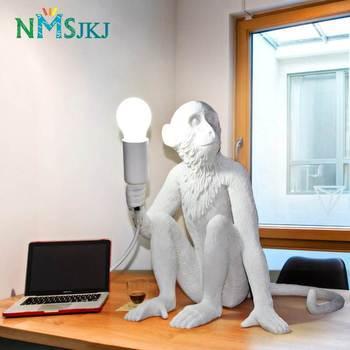 Luz Decorativa De Escritorio Creativa De Resina De Mono De Estilo Nórdico Para La Decoración De La Barra De Estudio