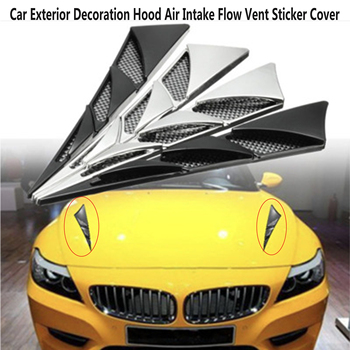 Carbon Car Hood Air Intake Flow Vent Fender Sticker Cover For BMW E46 E39 E90 E60 E36 F30 F10 E34 X5 E53 E30 F20 E92 E87 M3 M4 5 image