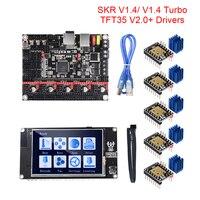 Bigtreetech btt skr v1.4 btt skr v1.4 turbo 32 bit placa tft35 v2.0 tela de toque tmc2209 tmc2208 uart atualização skr v1.3 mks gen l Peças e acessórios em 3D     -