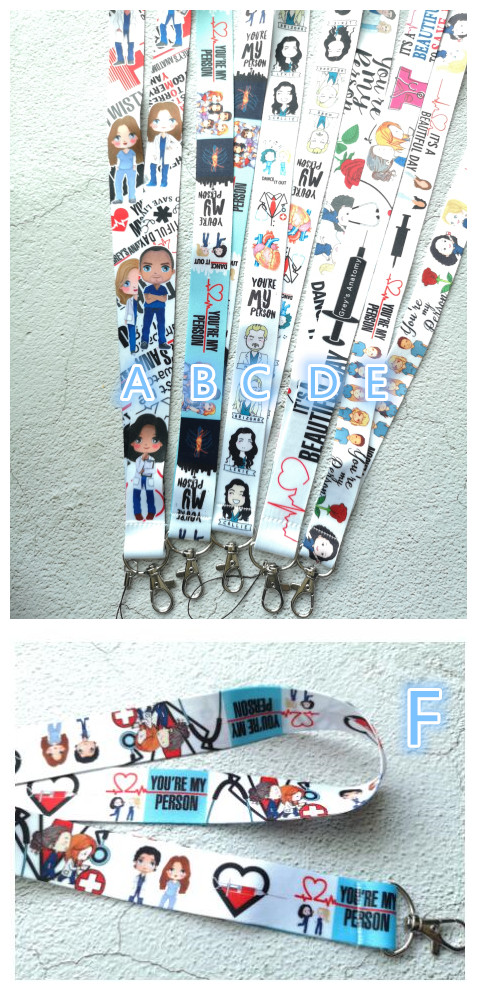 New 1pcs Cartoon Doctor Nurse Key Lanyard Badge ID Cards Holders Neck Straps With Keyring Gifts Party Favors