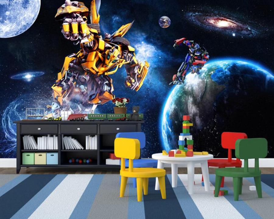 Custom Mural Wallpaper 3D Transformers Large Mural Wallpaper Living Room Bedroom TV Background Wall Starry Sky