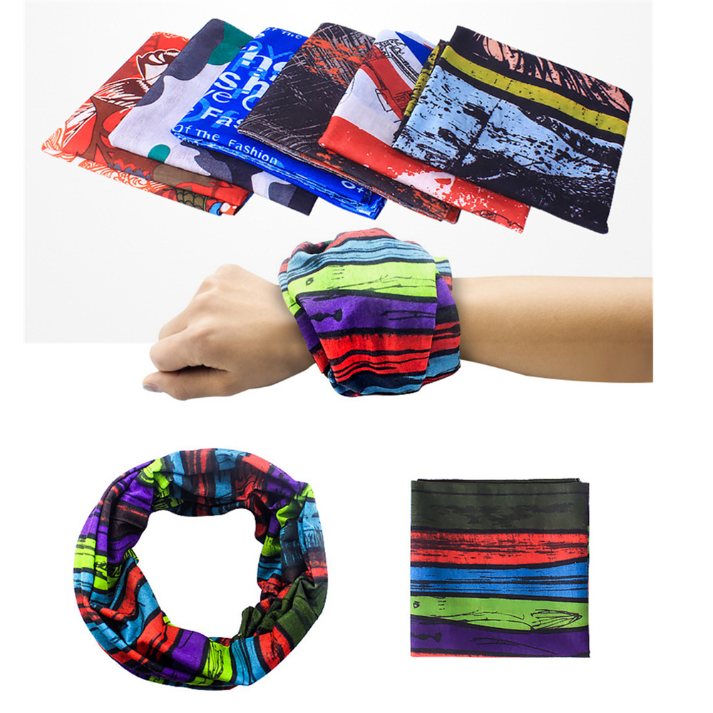 Riding Outdoor Scarf Fashion Activities Hand Decors Hiking Fitness Neck Scarves Camping Sun Protections Men Women Party Scarf