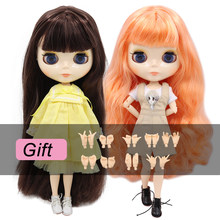 ICY DBS Blyth Doll 1/6 bjd toy joint body white skin shiny face 30cm on sale special offer