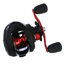 High Speed 18BB Magnetic Brake Bait Casting Reel 6.3:1 Bass Fishing Left Right Reel Nylon Body shishamo bc150 18bb left hand right hand fishing bait casting reel with one way clutch high speed 6 3 1 ultra light